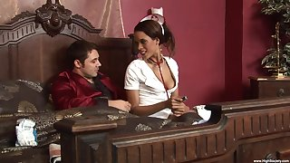 Keisha Kane ridding a friend's long and sticky penis in the room