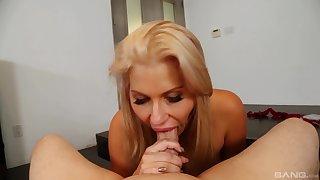 Hot POV home blowjob and handjob by Savana Styles