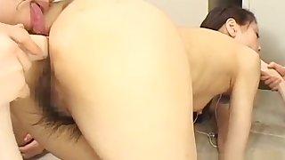 Adorable japanese anal sluts enjoying coarse bang