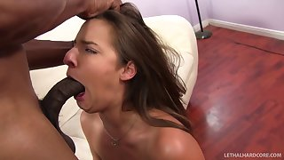 Her hot round tight ass screams for a giant black cock pounding