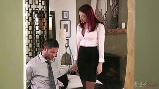 Redhead boss Chanel Preston having amazing sex with her employee