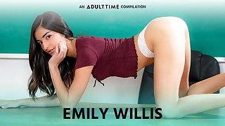 ADULT TIME  Emily WIllis COMP, Creampie & Rough Sex