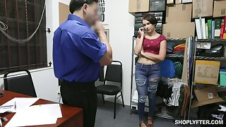 Lovely teen Natalie Porkman is fucked and punished for shoplifting