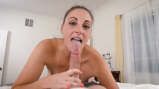 Freckled honey sucks the life out of her man's energized penis