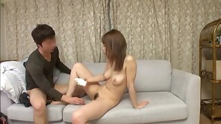 Japanese girl with a sexy trimmed pussy gets taken hard