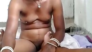 Ugly titless Desi whore kinda flashes her naked body
