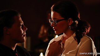 Emotional sinful Russian beauty Anna Polina is poked doggy darn right