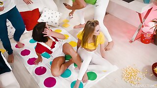 Game of Twister goes a little too far for Adriana Chechik and Scarlett Sage