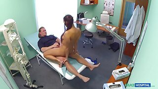Mea Melone and a stud do the deed in a medical examination room