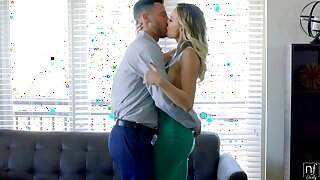 Eye catching busty babe Kenzie Taylor feels right fucking missionary and doggy