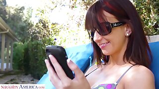 Married guy is cheating on his wife with naughty babe Katie Jordan