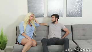 Fucking awesome housewife Alura Jenson gives a blowjob and boobjob