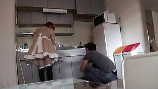 Asian House Maid Wearing Sexy Dress Fucked By The Owner