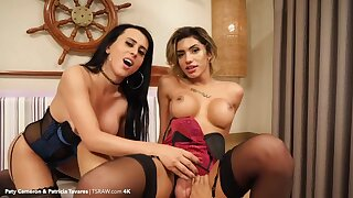 Spend over an hour inside the asses of kinky Patricia Tavares and Paty Cameron