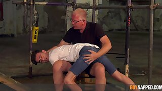Rough anal with grandpa in a series of maledom BDSM scenes
