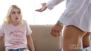 Charming blonde babe Misha Cross is anally impaled on a nice hard cock