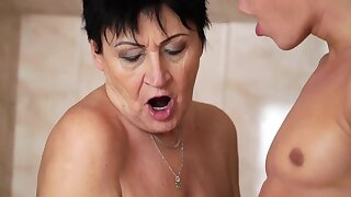 Horny granny enjoys steamy spoken session with a younger guy
