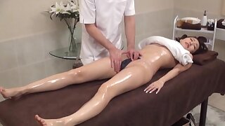 Massage leads there passionate fucking with an adorable Asian girl
