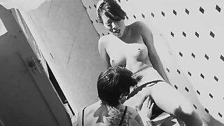 Ill-tempered lesbian sex in black and white - Asa Akira and Distinguish St John