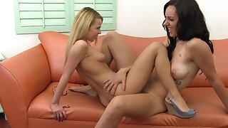 Sapphic sluts enjoying in pinpointing - Danica James & Alina West