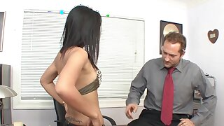 Closeup video be incumbent on shrivelled Asian chick Miss Oi having sex in the office