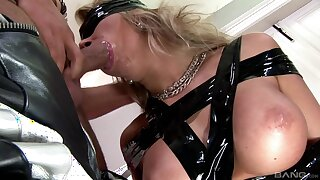 Nude blonde plays submissive in dirty hardcore kink