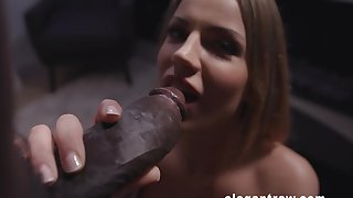 Latina blonde slut in stockings Angel Rivas ass fucked and creampied