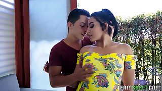 Colombian hooker Annette Rios is picked up and fucked by insatiable hot blooded dude