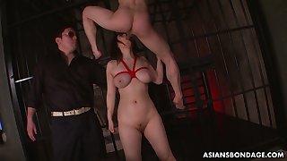 Busty alluring tied up Japanese whore Kaoru Hirayama is made for good anal